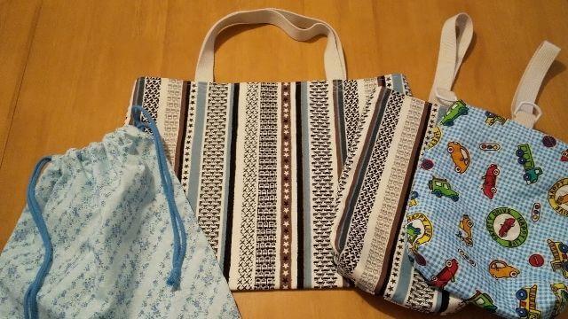 ハンドメイドの袋物
